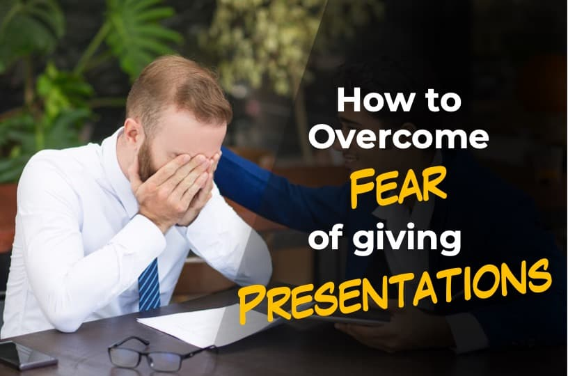Image describing the featured image for fear of giving presentations
