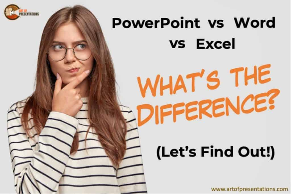 What is the difference between PowerPoint, Word and Excel