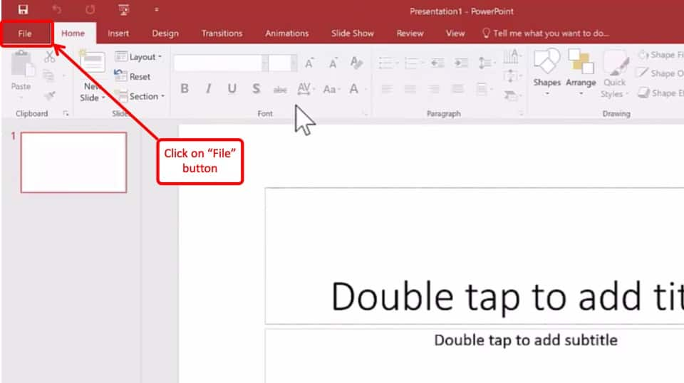 Image explaining how to enable developer tab in PowerPoint