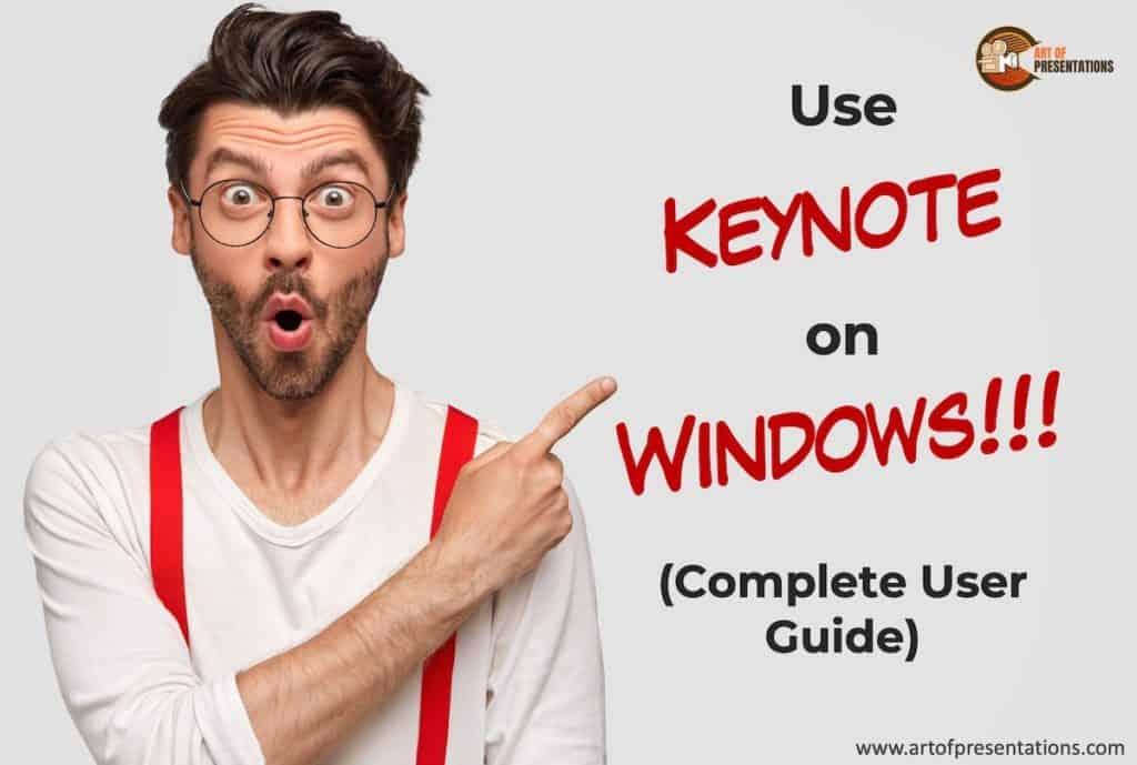 Install Keynote on a PC